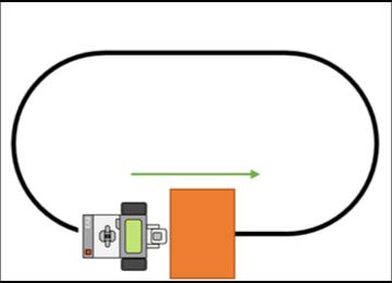 強化学習による自動走行イメージ